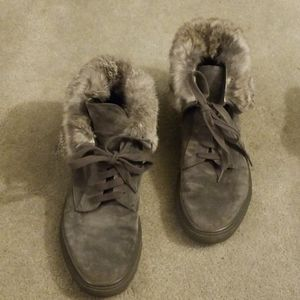 Vinve nyack grey suede rabbit fur line sneakers 39